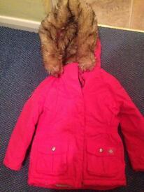 Girls winter coat, age 6-7