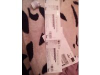 2 NOEL GALLAGHER'S HIGH FLYING BIRDS CONCERT TICKETS STANDING MOTORPOINT ARENA 30TH APRIL 2018