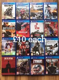 PlayStation 4 (PS4) games ! As new ! £10-£20 each ! NEW TITLES ADDED ! Price stands , no offers !