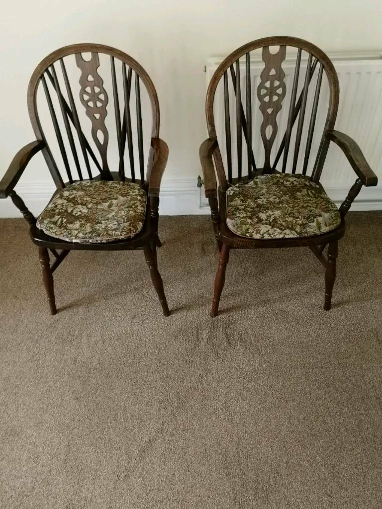 12 Country Style oak chairs
