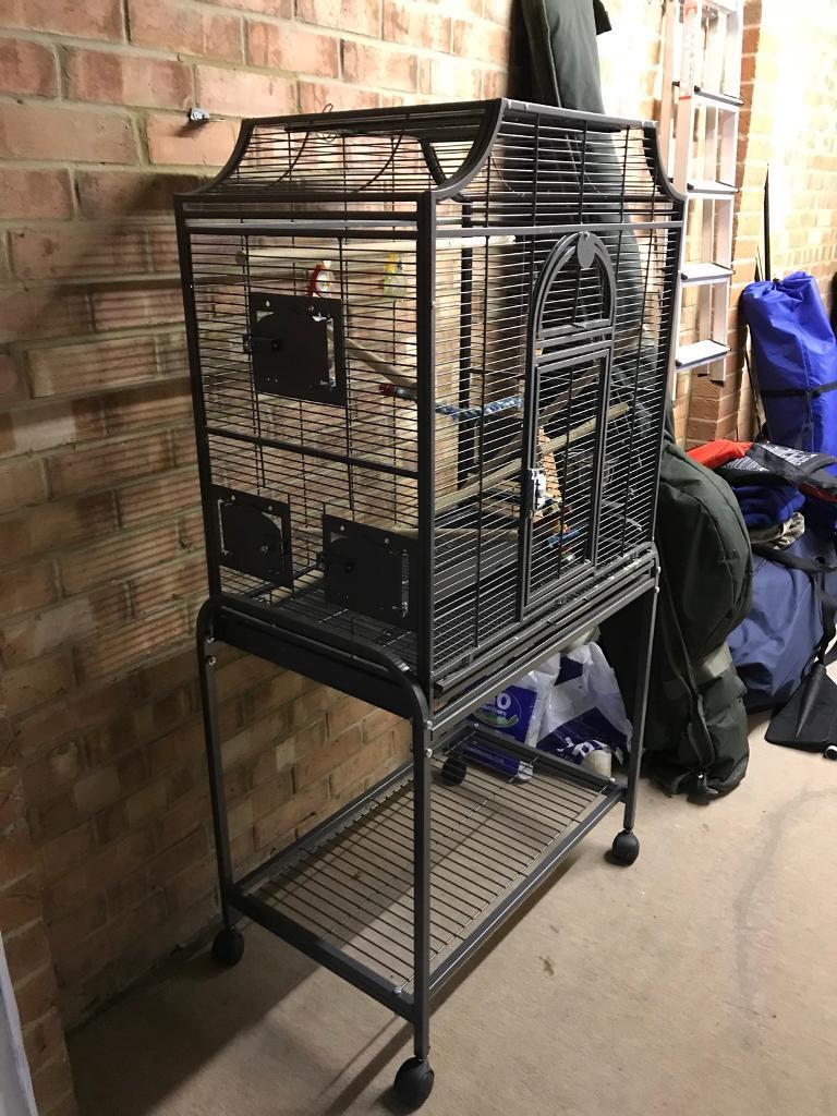 Bird/parrot cage and stand