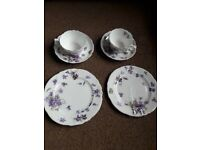 Stunning China cups, saucers and plates (2 of each)