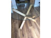 Solid Oak BHS glass top table