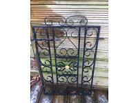 Steel metal gate