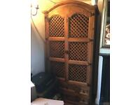 Stunning hand made Mexican pine drinks/dining rm cabinet