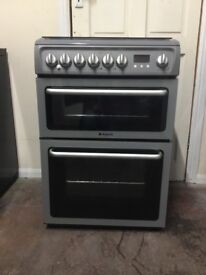 Hotpoint dual fuel gas cooker DSD60S 60cm FSD double oven 3 months warranty free local delivery!!!