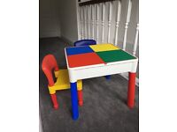 Children's 2 in 1 activity table and chairs.