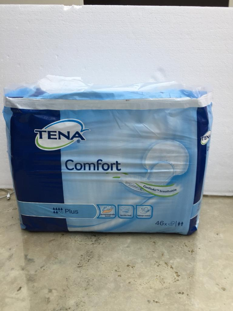 Tena comfort plus. Brand New And Sealed. 46 pads