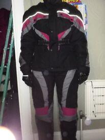 Unisex motorbike jacket and trouser sets