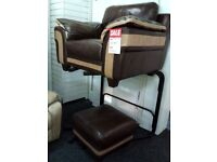 Exdisplay sofology cuddle chair poufee set