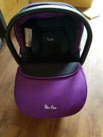 Silver cross purple car seat with adapters
