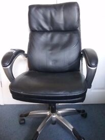 JOHN LEWIS black Leather Offuce Chair