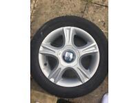 Seat Ibiza tyre and wheel 195/55/15 dunlop