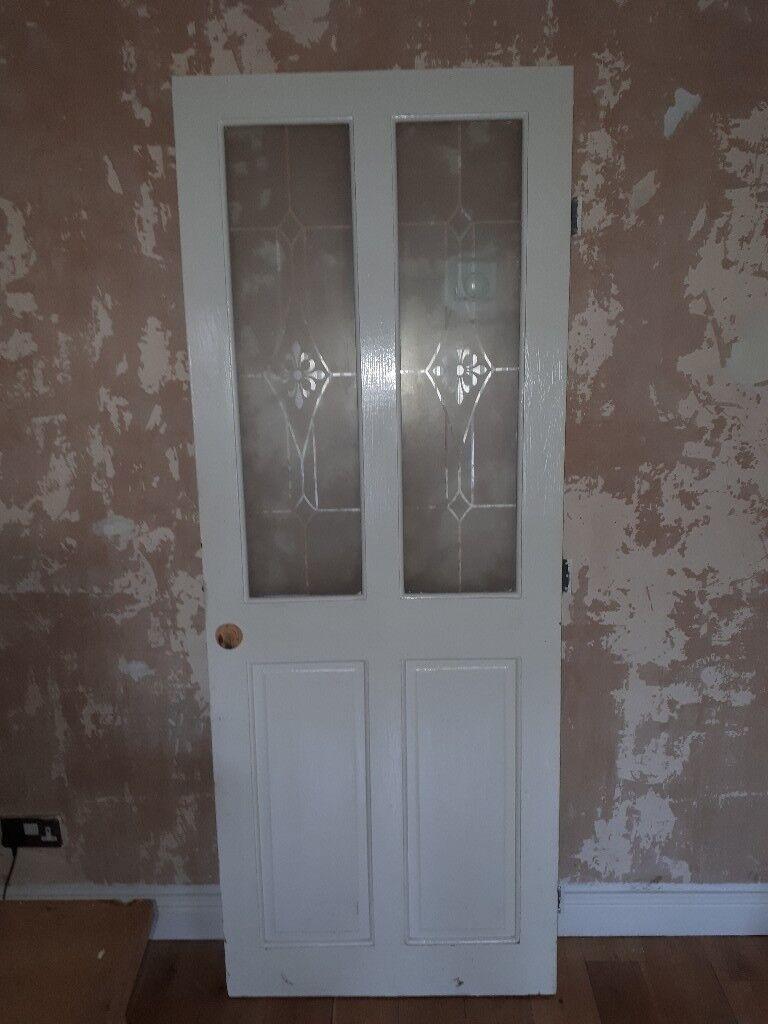 Living room door with glass