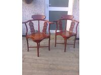 Pair Of Reproduction Chinese Chairs