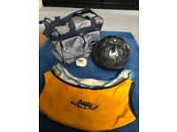 Ten Pin bowling ball with carry bag