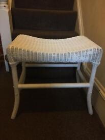 White wicker stool