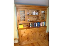 Rustic pine sideboard and dresser