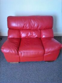 Leather Arm Chair - Red
