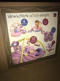Baby girl butterfly themed playmat
