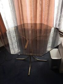 Octagon Glass Table