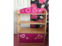 Pink Hearts Bookcase, Bookshelves & Rug