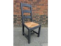 LARGE rustic oak occasional or dining chair. Charcoal distressed shabby chic.