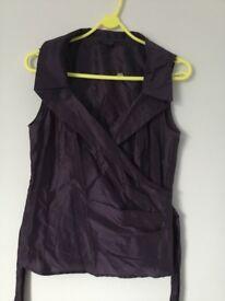Coast purple sleeveless shirt size 12