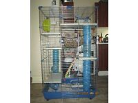 Small pets cage for sale. 3 tier cage for rats, guinea pigs....