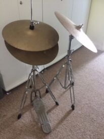 CB Drum Hi-Hat Stand With Cymbals & Extra Standard Stand With Cymbal