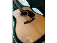 Sigma DR-28H Dreadnought Acoustic Guitar, SKB case & Seymour Duncan Woody SA-3HC Pickup
