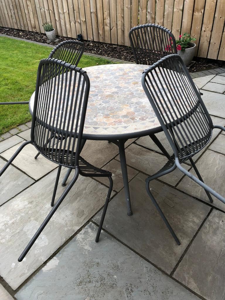 Mosaic garden table 4 chairs york