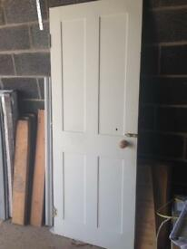 White painted timber door