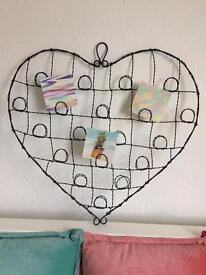 Large Heart Memo Board /Photo Holder