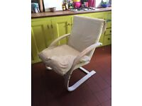 Two Ikea rocking chairs