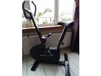 Exercise bike good condition. 1 rubber part missing from base but still works perfectly.