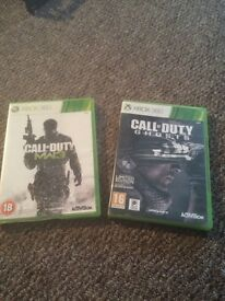 2 x CALL OF DUYY GAMES GHOTSTS MW3