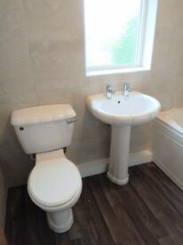 Bargain ! As new complete bathroom suite new taps wastes etc £65