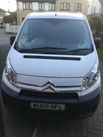 White Citroen Dispatch van
