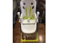 Cosatto Noodle Supa High Chair in good condition with table, cover and straps