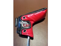 Latest model Left hand Odyssey ToeUp 1 putter with Superstroke counterbalanced grip like new