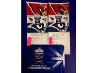 NFL International Cardinals v Rams (x2 Great seats)