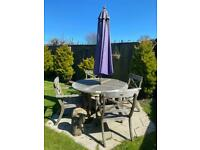 Outdoor table and chair set