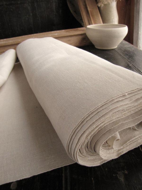 Bolt of Antique Fabric homespun linen cotton mix metis 15.8 yards
