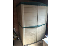 Plastic shed as new condition