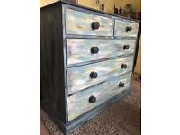 Shabby Chic Antique Victorian Chest of Drawers (Can Deliver)