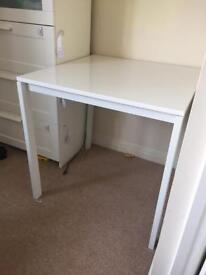 Ikea square white dining table