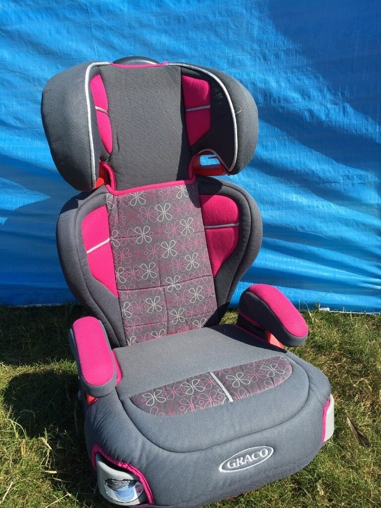 GRACO BOOSTER CAR SEAT CHAIR In Very Good Clean Condition It Has A Removable Adjustable Back Rest