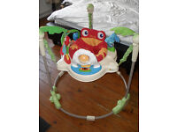 FISHER PRICE JUMPEROO BOUNCER WITH LIGHTS AND SOUNDS
