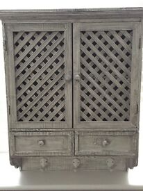 Grey Rustic Wall Cabinet - Brand New